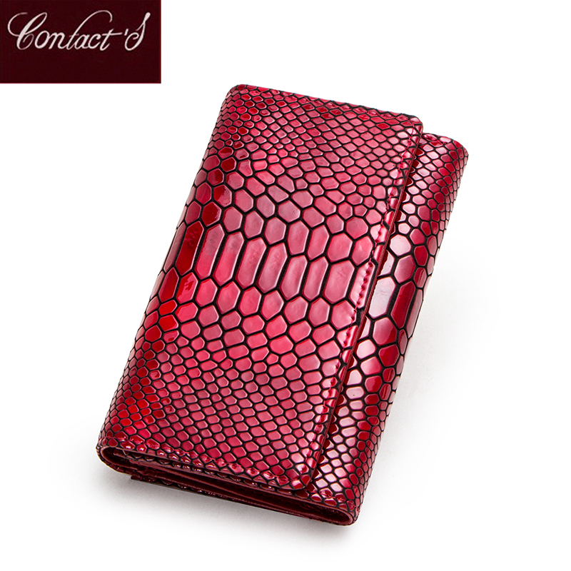 Standard Wallets 2020 Brand Design Genuine Leather Women Wallets Serpentine Purse With Card Holder Lady Fashion Trifold Wallet