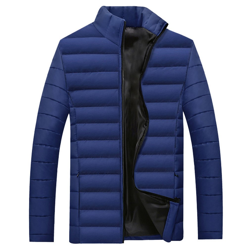 2018 Winter Jackets Men Thick Cotton Warm Male   Parka   Clothes Plus Size M-4XL Slim Casual Coats Ultralight Leisure Jackets