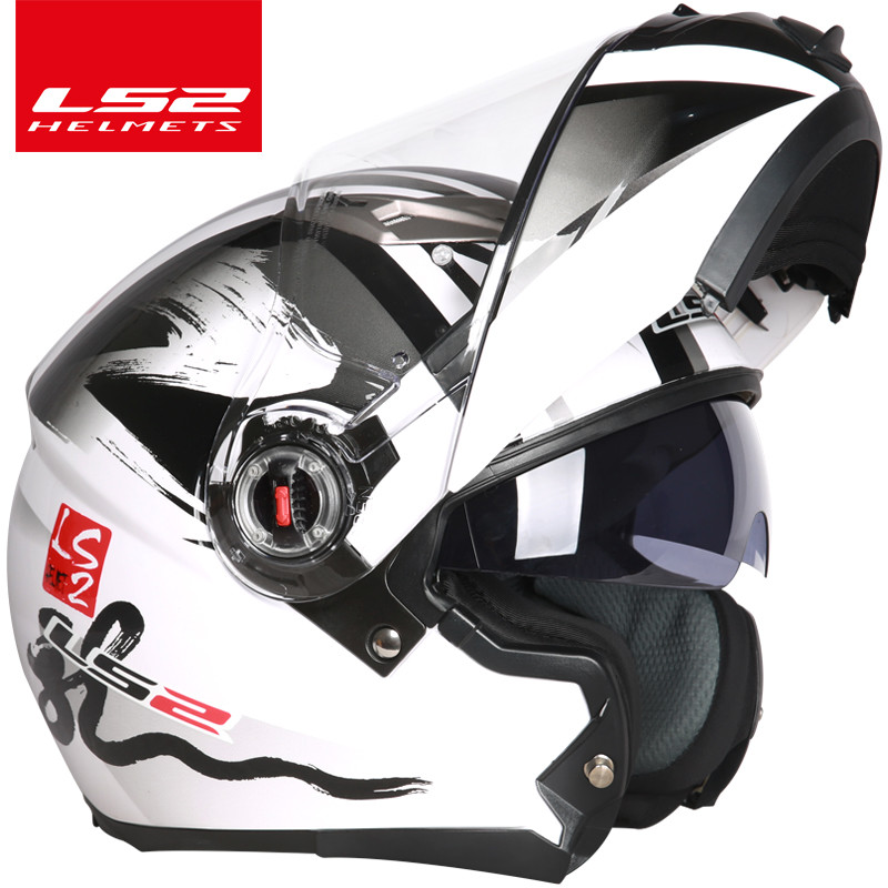 цена LS2 FF370 flip up motorcycle helmet casco moto dual visor full face helmet can change anti-fog lens casque moto ECE approved