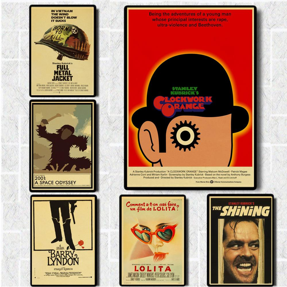 Kubrick Classic Movie Poster The Shining/2001 Space Odyssey / Clockwork Orange /Lolita Home Decor Retro Poster Painting