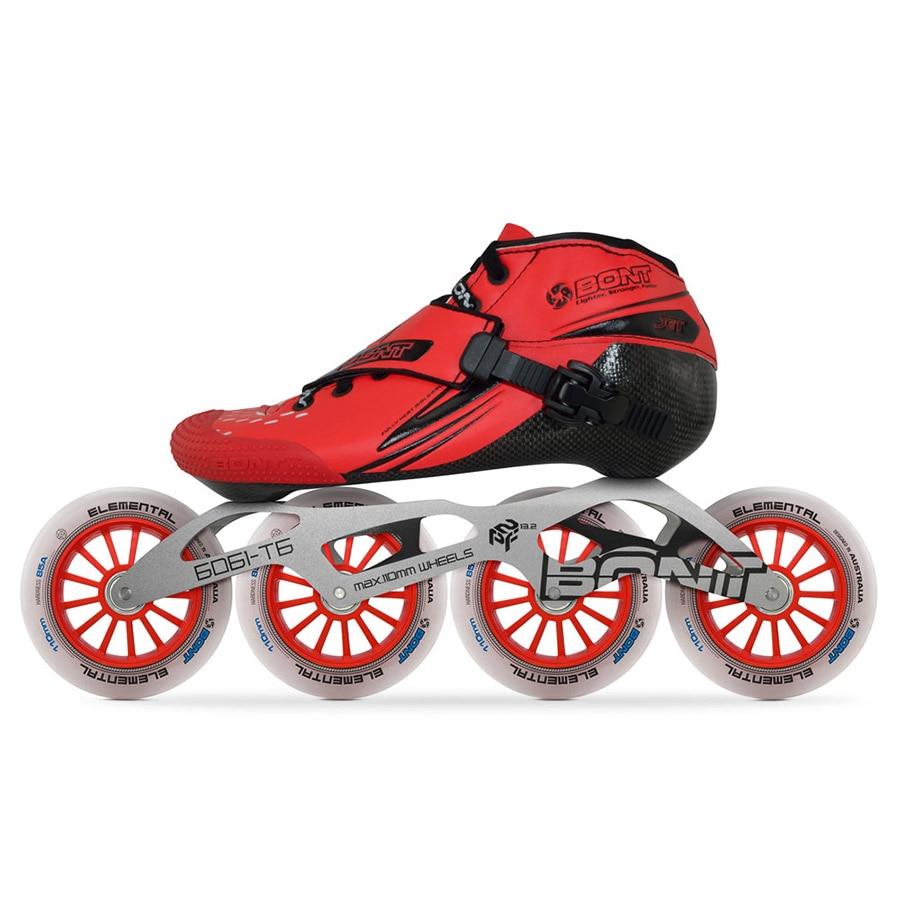 2019 Original Bont Jet 2PT vitesse patins à roues alignées canicule en fibre de carbone 4*90/100/110mm 6061 Patines de patinage sur roues élémentaires
