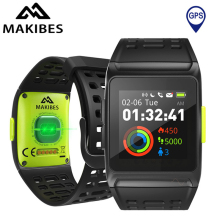 цены на Makibes BR1 GPS Smart Watch Bluetooth Strava HRV+ECG IP67 Waterproof 1.3