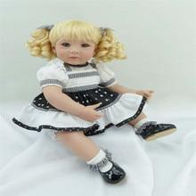 Reborn Silicone dolls 20 inch 50 cm ,Beautiful fashion  lifelike doll reborn babies Blonde hair girl
