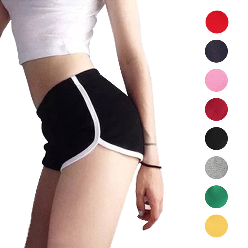 Newly Sexy Women Fitness Sports Shorts Elastic Wais Loose Beach Sexy Shorts Breathable Cotton Short Pants