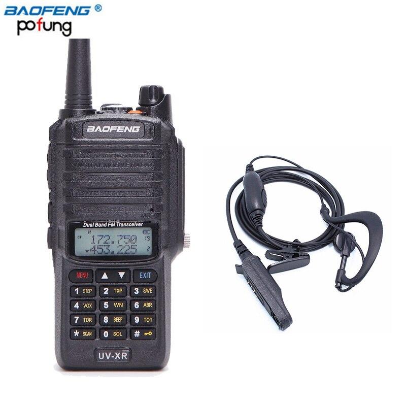Baofeng UV-XR 10 W Haute Puissance 4800 mAh Batterie IP67 Étanche Anti-Poussière Double Bande Talkie Walkie Radio Bidirectionnelle + un Écouteur