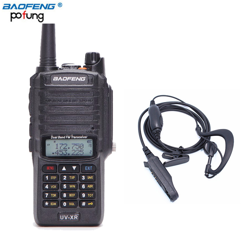 Baofeng UV-XR 10W High Power 4800mAh Battery IP67 WaterProof Antidust Dual Band Walkie Talkie Two Way Radio+One Earpiece