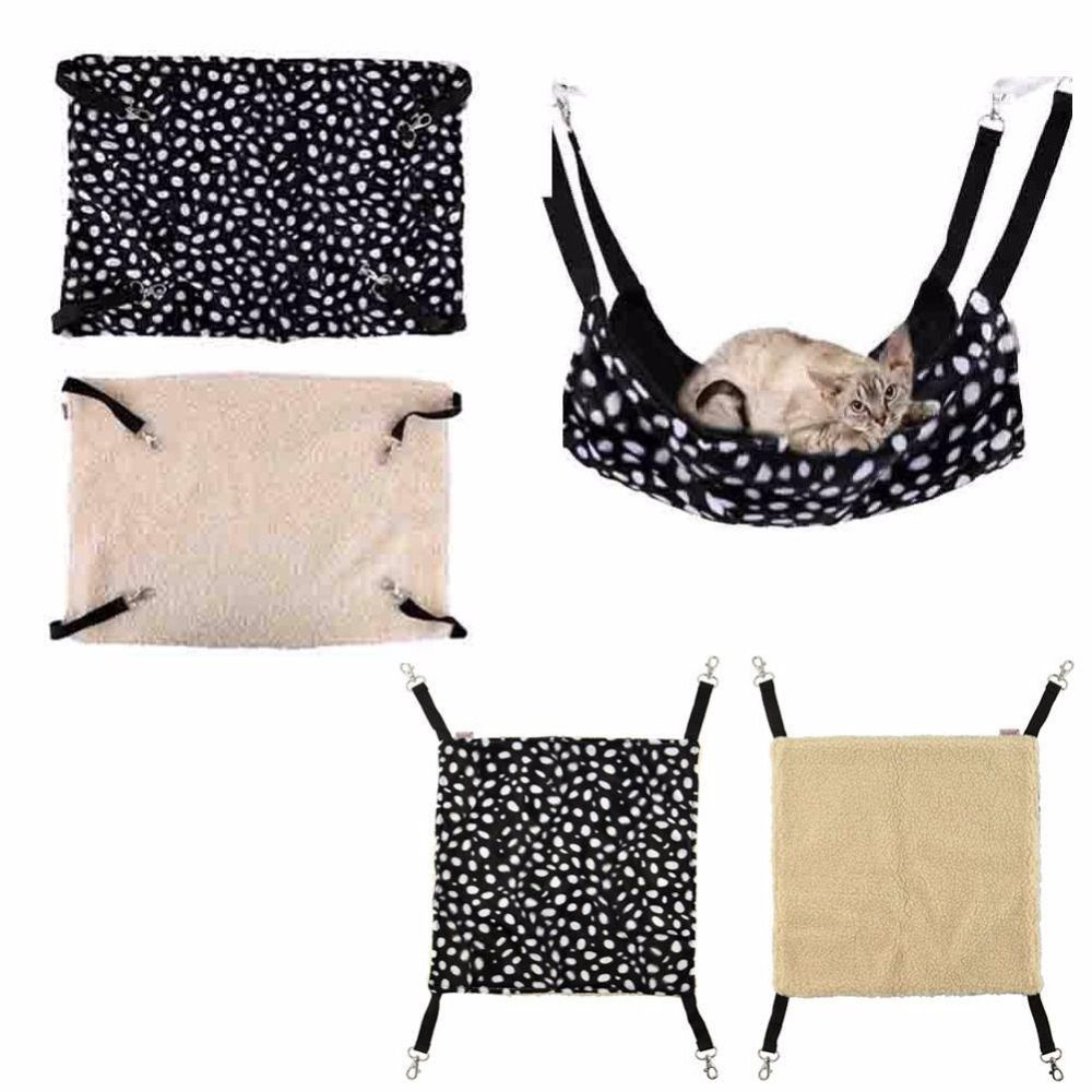 NEW Polk Dot Polyester Rat Rabbit Chinchilla Cat Cage Hammock Small Pet Dog Puppy Bed Cover Bag Blankets