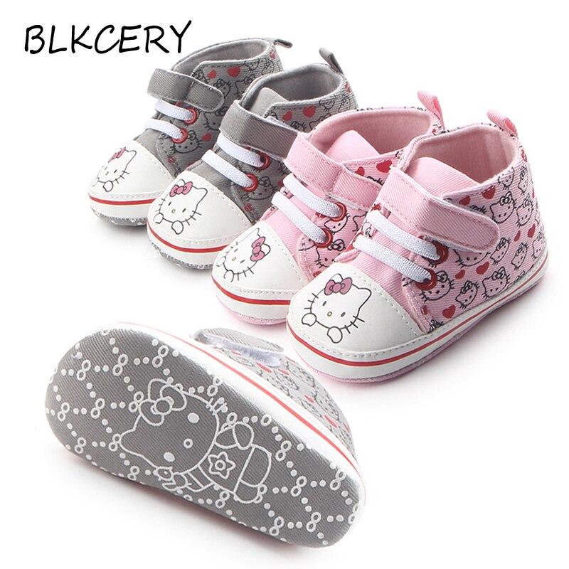 ce2cd5ae37010 Bébé bottes pour filles rose Hello Kitty princesse chaussures nouveau-né à semelle  souple bébé