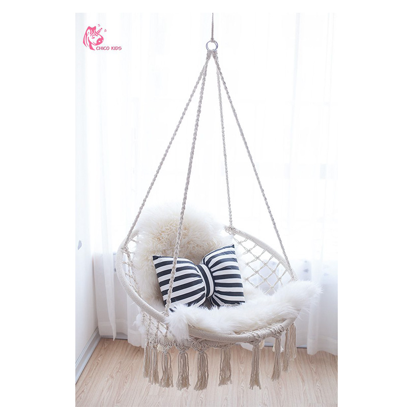 Round Hammock Outdoor Indoor Dormitory Bedroom Nordic Style Single Chair  Hammock Children Swing Bed Kit Swinging Hanging Adults In Figurines U0026  Miniatures ...
