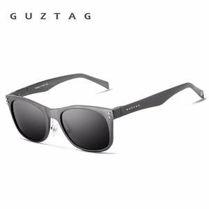 Image 5 - GUZTAG Sunglasses Aluminum Square Men/Women Polarized Mirror UV400 Sun Glasses Eyewear Sunglasses For Men oculos de sol G9201
