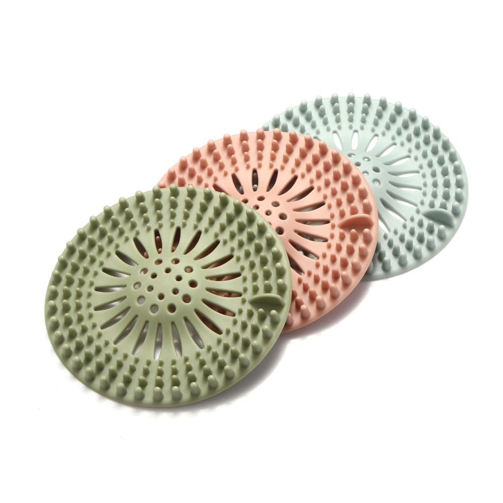 Kitchen Sink Drain Silicone Hair Catcher Bathroom Stopper Strainers Shower Cover Basin Sink Filters Floor Drain Kitchen