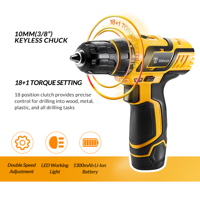 Electric Drill 10.8V DC New Design Household Lithium-Ion Battery Mini Cordless Drill/Driver Power Tools  3