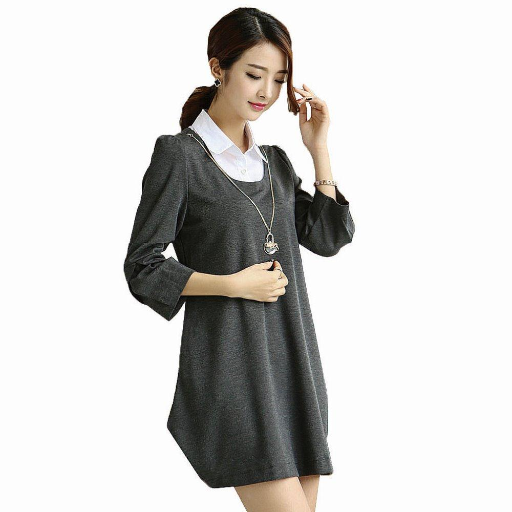 Hot sale Maternity Clothes Autumn Maternity Dresses plus ...
