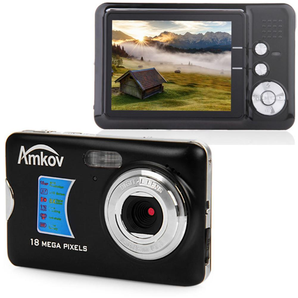 For Amkov AMK-CDFE 18 Digital Camera Megapixel 2.7 Inch Display Portable High-definition Shooting Camera Pocket Digital Camera