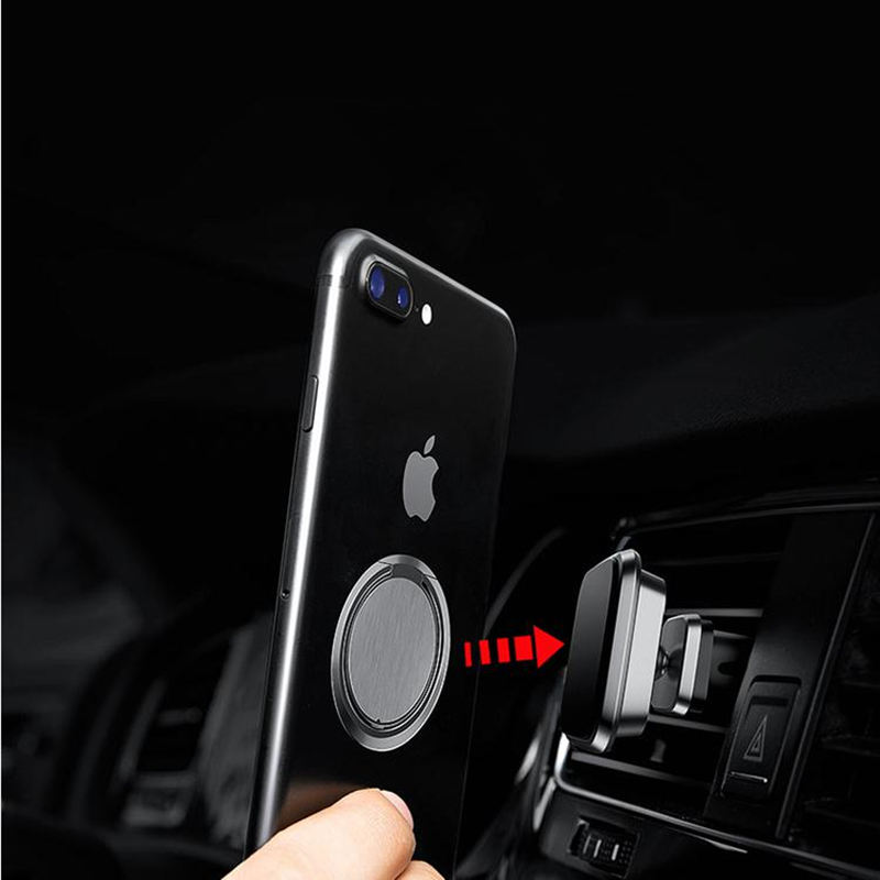 Ultra thin metal Stent Accessories Mobile Phone Stand Finger Ring Magnetic For cute Cell Smart car Phone holder for iphone x xs in Phone Holders Stands from Cellphones Telecommunications