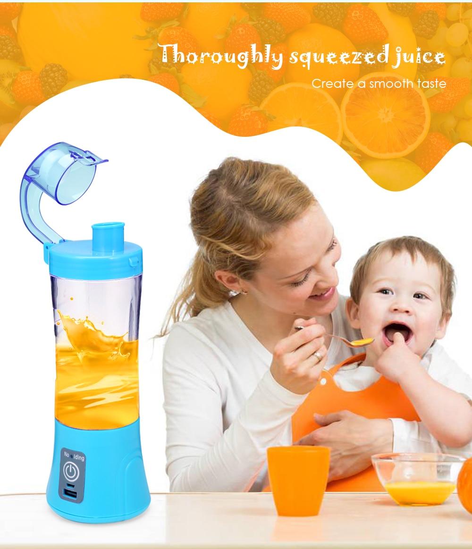 HTB1s2hMLwHqK1RjSZJnq6zNLpXaC 380ml Portable Blender Juicer Cup USB Rechargeable Electric Automatic Vegetable Fruit Citrus Orange Juice Maker Cup Mixer Bottle