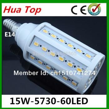 b5427fa7e9c Alta Potencia 15 W E14 pared lámparas LED 5730 SMD del maíz del LED  Bombilla lámpara