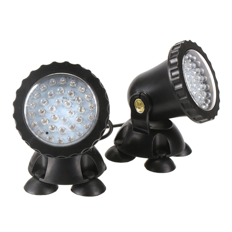 2 in 1 36 LED remote control Submersible Underwater Lamp Spot Light for Garden Fish Tank Pond Fountain Aquarium led lighting
