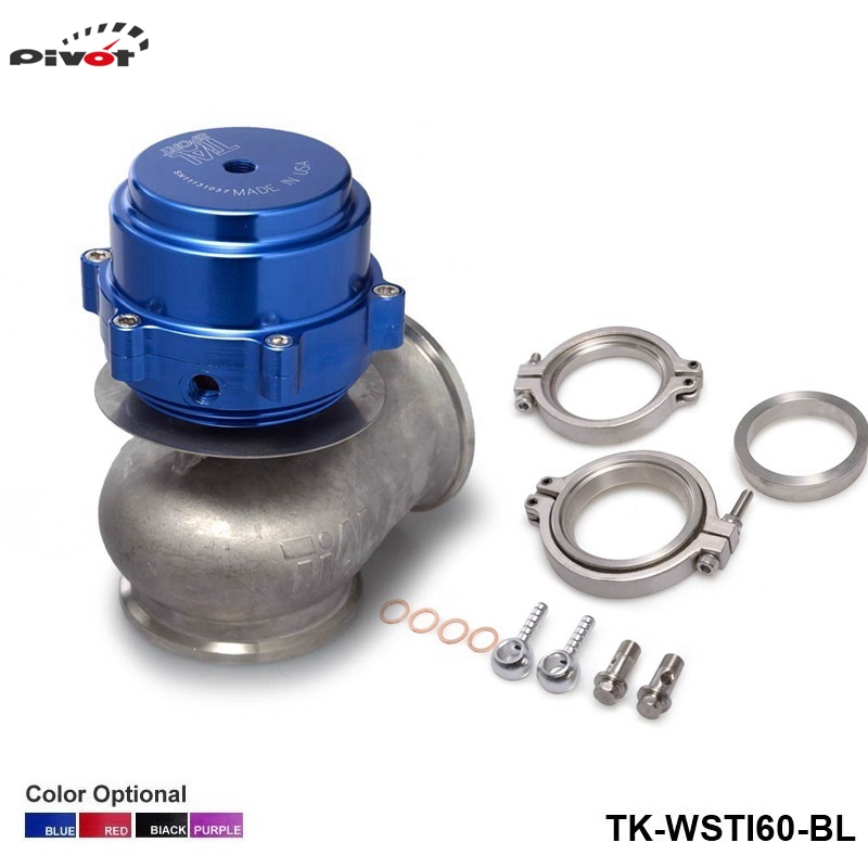 ФОТО PIVOT - Universal Billet Aluminum Car 60MM V60 Turbo Wastegate Vband V-Band V Band Waste Gate TK-WSTIAL60