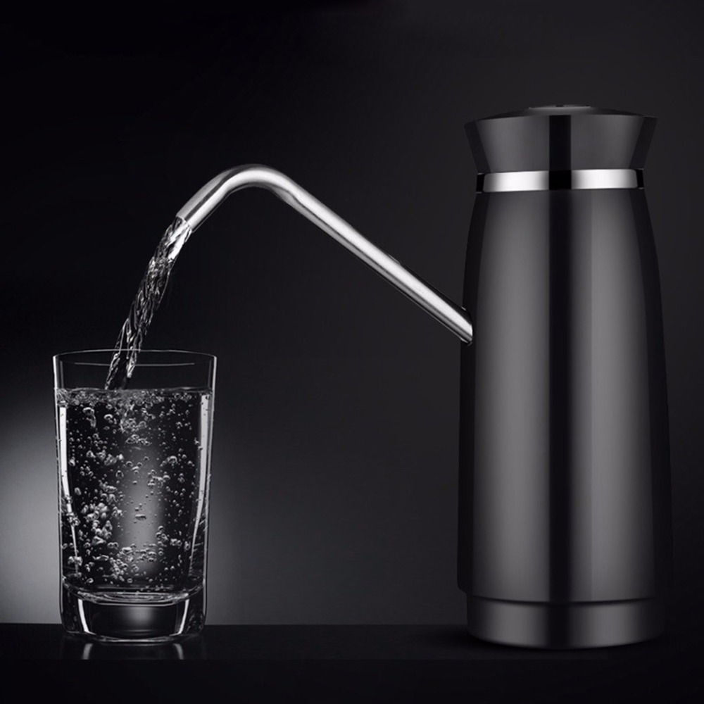 MEXI Brief Elegant Design 304 Stainless Steel Automatic Electric Portable Water Pump Dispenser Gallon Drinking Bottle Switch yj humidifier electric water bottle pump dispenser drinking water bottles suction unit water dispenser kitchen tools