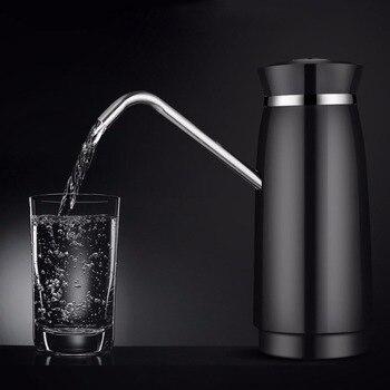 MEXI Kurze Elegante Design 304 Edelstahl Automatische Elektrische Tragbare Wasserpumpe Spender Gallonen Trinken Flasche Schalter