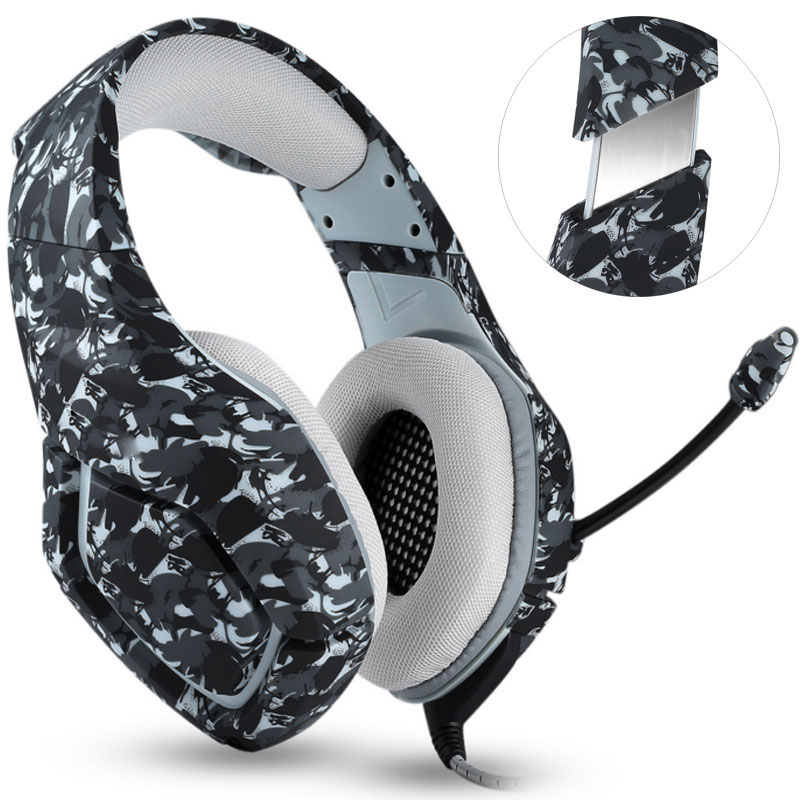 NDJU K1 Camouflage Headset Super Bass PS4 Gaming Headphones with MIC Game Earphones for  ...