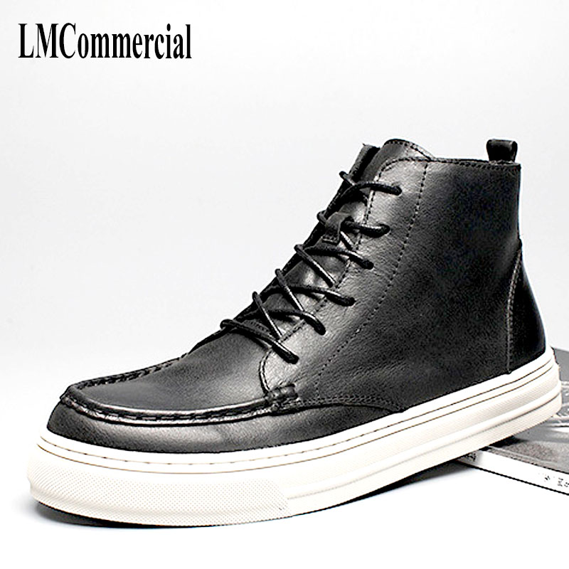 2018 New new autumn winter British retro men shoes all-match leather shoes boots men Martin fashion casual shoes cowhide male 2017 new autumn winter british retro zipper leather shoes breathable sneaker fashion boots men casual shoes handmade