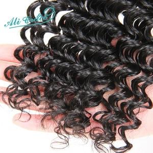 Image 5 - Ali Grace Hair Brazilian Deep Wave Bundles With Frontal Middle Part Deep Wave Bundles with Closure 13x4 Remy Human Hair Weaves