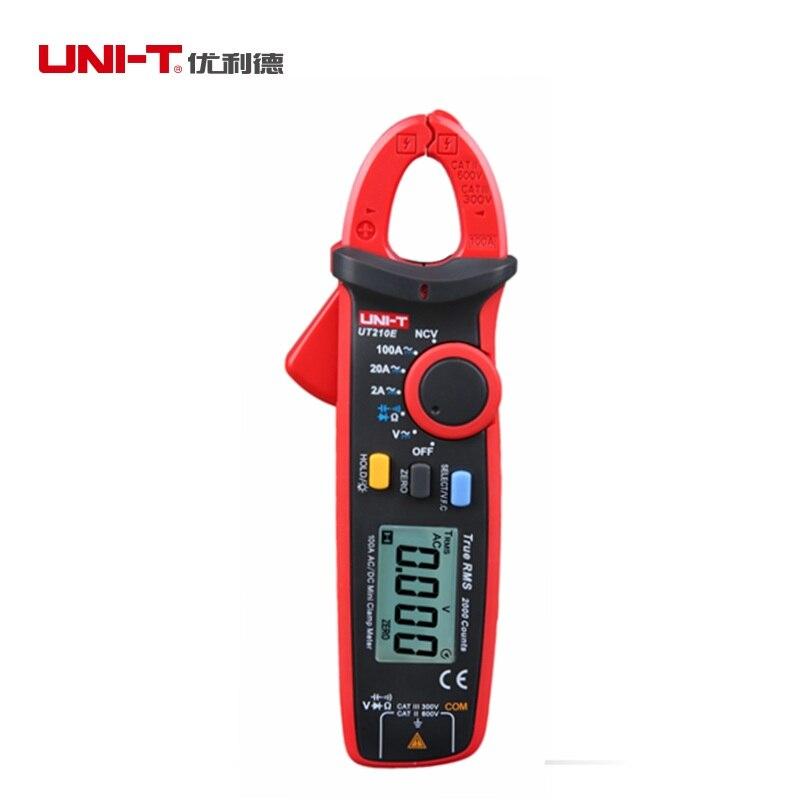UNI-T UT210E Ultra-portable 100A Numérique Pince Multimètre Vrai RMS AC DC Volt Amp Cap Ohm Mètre V.F.C Fonction plusieurs Testeurs
