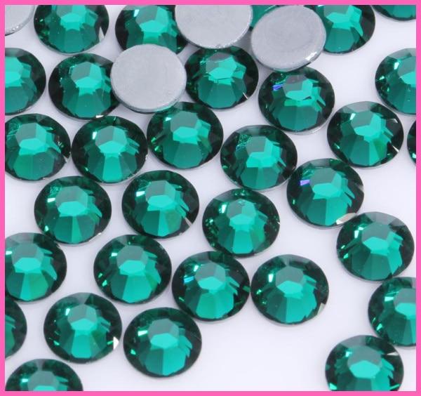 Все размеры 40 цветов кристалл AB исправление стразы, Стекло Стразы исправленное железо на Стразы для дизайна ногтей шитье и ткань Decoretion - Цвет: Green Zircon