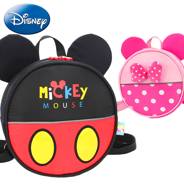83b3927d4bbb Disney Mickey Mouse Backpack 2018 New Kids Girls School Bag Cute Children  Boy Backpacks Minnie Cartoon Kindergarten Book Bags