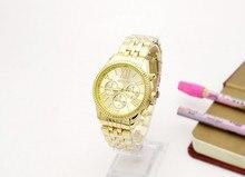 2016 la más nueva venta caliente mujer regalos de Moda números romanos tres ojos de los hombres de negocios Reloj famosa marca de relojes de pulsera de acero Inoxidable