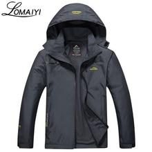 LOMAIYI Embroidery Windproof Waterproof Men Jacket Coat 2017 Autumn Winter Warm Rain Windbreaker Men's Hooded Jackets,AM031