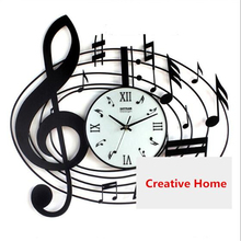 Large Wall Clock Women Watch Modern Design Beautiful Wrought Iron Wall Decorations Horloge Mural Silent Retro Wall Cloc LLN115