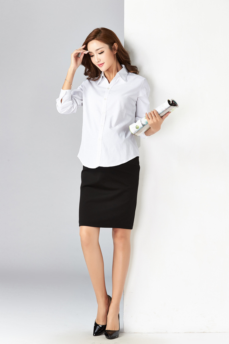a02b8d29ec32 2019 Pregnant Women'S Shirts White Long Sleeves Short Spring And ...