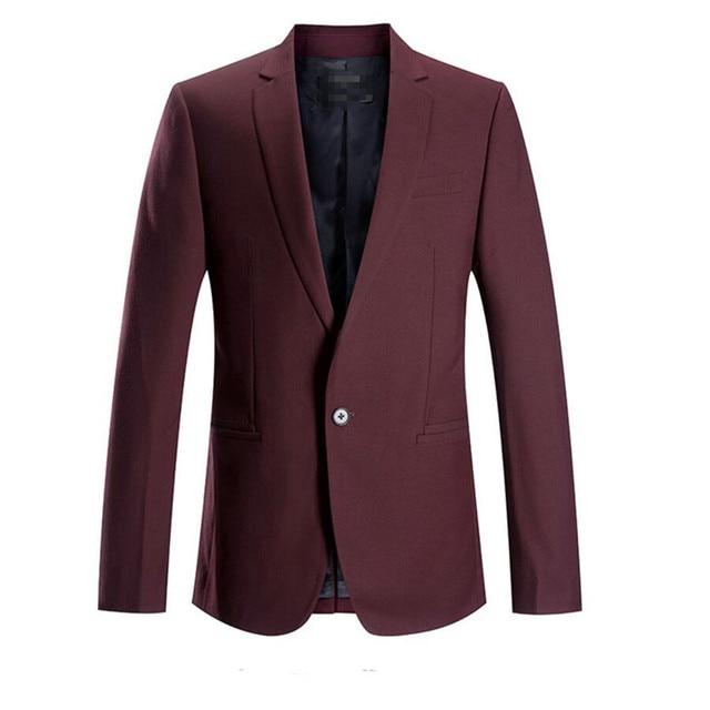 Мужчины blazer Новая волна заказ сделать красивый мужчины blazer высокое качество лучшее вино красный куртки с длинными рукавами