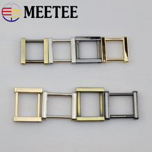 4pcs Meetee 20/25mm Metal O D Ring Luggage Hardware Accessories Removable Screws Square Metal Buckles for Bag Accessories F1-22(China)