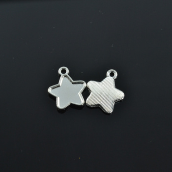 20pcs Silver Plated Star photo frame Charms alloy Pendants for Bracelet Necklace Jewelry Making Accessories DIY 18*15mm 1738 image