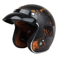 TORC Route 66 rebel star open face vintage motorcycle helmet casco retro pilot c