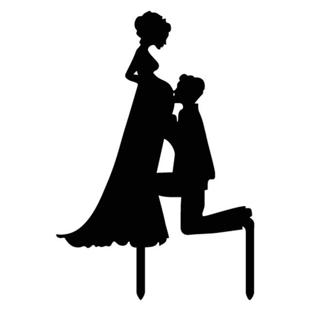 8c5dc8f38ef € 2.03 15% de DESCUENTO|Caliente familia embarazada Mamá y Papá acrílico  Sr. y señora novio pastel bandera Toppers para boda aniversario fiesta ...