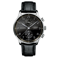 LOREO Germany Watches Men Luxury Brand Portugieser Chronograph Collection Japan MIYOTA Movement Sapphire Black Calfskin Business