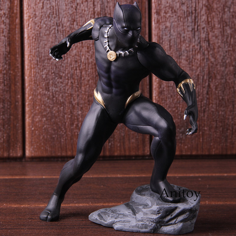 Action Figures Marvel Avengers Black Panther Kotobukiya Artfx Statue 1/10 Scale Pre-Painted Model Kit PVC Collectible Model Toy