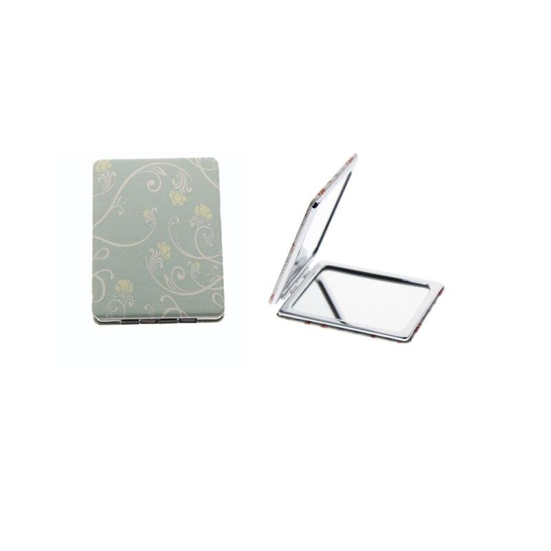 Begeistert 8,5*6 Cm Rechteck Doppelseitige Edelstahl Falten Portable Espejo De Maquillaje Espelho De Maquiagem Make-up Spiegel Online Schminkspiegel Schönheit & Gesundheit