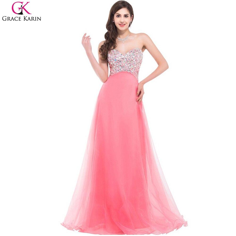 Grace karin atractivo del amor del organza largo hermoso vestido de ...