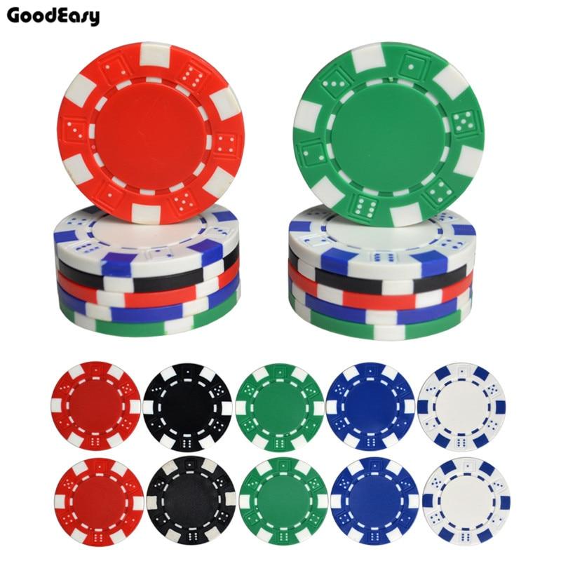 25 PCS / LOT Fichas de póker 11.5g Iron / ABS Classic Casino Chips 5 - Entretenimiento - foto 5