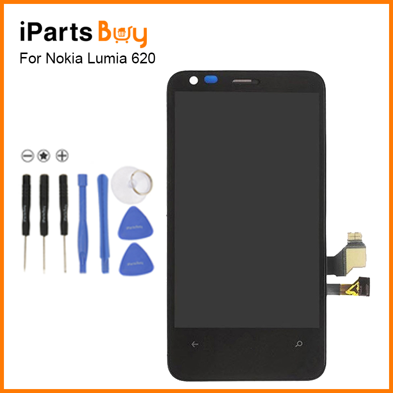 ФОТО iPartsbuy For Nokia Lumia 620 LCD Screen Display Touch Panel Digitizer with Frame Assembly Replacement For Nokia Lumia 620