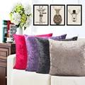 Fashion Solid Color Luxury Velvet Plush Pillowcase For Sofa Cushion Home Decor Chair Custom Pillow Coussin Cojines Capa Almofada