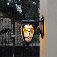 Retro Outdoor Wall Light Lamps Waterproof LED Porch Lights Wall Sconce Lamp Garden Balcony Aisle Decor Aluminum Lighting