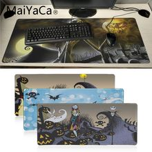 Maiyaca кошмар до Хэллоуина Рождественский игровой коврик для мыши запирающийся край коврик для мыши подставка под руку мышь геймер для ноутбука клавиатура