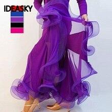 Юбки для фламенко для латинских танцев, Женская юбка, длинная, для взрослых, для Бальных тренировок, для женщин, современное стандартное платье для соревнований, для детей